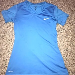 Blue Nike shirt